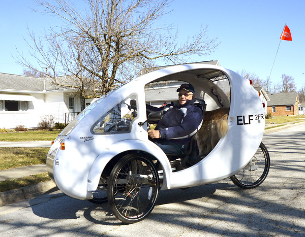 Local Resident Turns Heads With His Solar-pedal Vehicle
